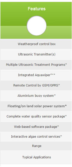 Features of ultrasonic units